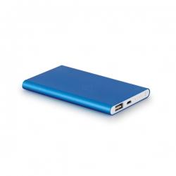 Power Bank Portátil Slim Color Personalizado - 4.400 mAh Azul
