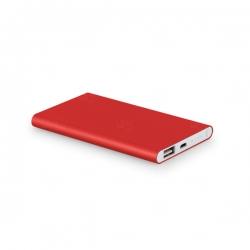 Power Bank Portátil Slim Color Personalizado - 4.400 mAh Vermelho