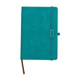 Caderno Capa Dura Personalizado - 21,5 x 15 cm Verde água