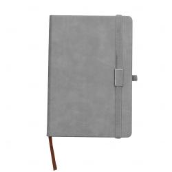 Caderno Capa Dura Personalizado - 21,5 x 15 cm Cinza