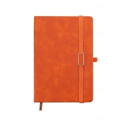 Caderno Capa Dura Personalizado - 21,5 x 15 cm Laranja