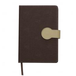Caderno Capa Dura Personalizado - 21,5 x 15 cm Marrom