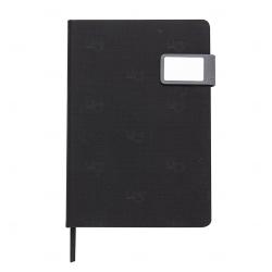 Caderno Com Fecho Magnético Personalizado - 21,3 x 15 cm Preto