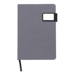 Caderno Com Fecho Magnético Personalizado - 21,3 x 15 cm Cinza