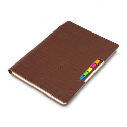 Caderno Personalizado  de Anotações - 21 x 15 cm Marrom