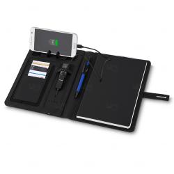 Caderno com Power Bank Personalizado - 4.000 mAh Preto