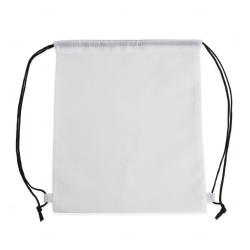 Sacochila de Nylon Personalizada - 41x34 cm Branco