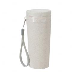 Copo Térmico Fibra de Bambu Personalizado - 350 ml Bege