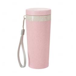 Copo Térmico Fibra de Bambu Personalizado - 350 ml Rosa