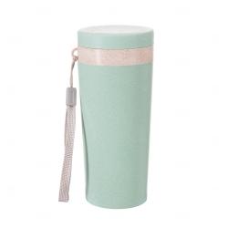 Copo Térmico Fibra de Bambu Personalizado - 350 ml Verde