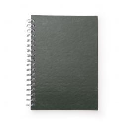 Caderno de Couro Sintético Personalizado - 24,3 x 18,4 cm Verde
