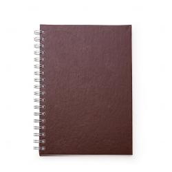 Caderno de Couro Sintético Personalizado - 24,3 x 18,4 cm Vinho