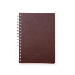 Caderno de Couro Sintético Personalizado - 21,3 x 16 cm Vinho