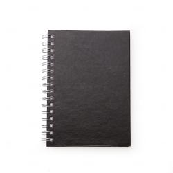 Caderno de Couro Sintético Personalizado - 21,3 x 16 cm Preto