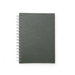 Caderno de Couro Sintético Personalizado - 21,3 x 16 cm Verde Escuro