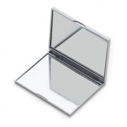 Espelho Retangular Duplo Personalizado Prata