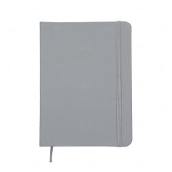 Caderno tipo Moleskine Personalizado - 18,3 x 13,4 cm Cinza