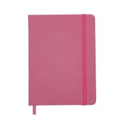Caderno tipo Moleskine Personalizado - 18,3 x 13,4 cm Rosa