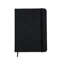 Caderno tipo Moleskine Personalizado - 18,3 x 13,4 cm Preto