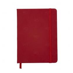 Caderno tipo Moleskine Personalizado - 18,3 x 13,4 cm Vermelho