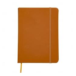Caderno tipo Moleskine Personalizado - 18,3 x 13,4 cm Laranja