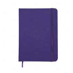 Caderno tipo Moleskine Personalizado - 18,3 x 13,4 cm Roxo