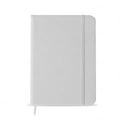 Caderno tipo Moleskine Personalizado - 18,3 x 13,4 cm Branco