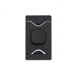Porta Cartão Com Suporte Para Celular Personalizado Preto