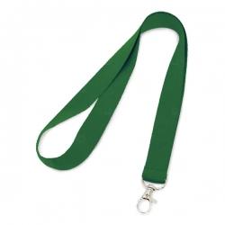 Cordão de Crachá com Presilha Mosquetinho Personalizado - 2cm Verde