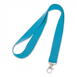 Cordão de Crachá com Presilha Mosquetinho Personalizado - 2cm Azul