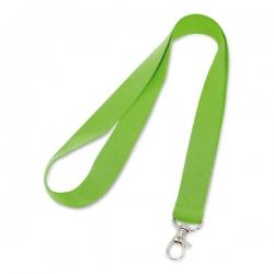 Cordão de Crachá com Presilha Mosquetinho Personalizado - 2cm Verde Claro