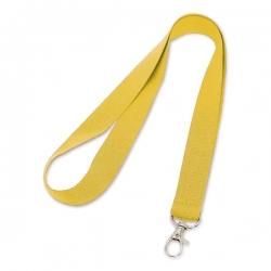 Cordão de Crachá com Presilha Mosquetinho Personalizado - 2cm Amarelo