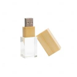 Pen Drive Bambu c/ Cristal Personalizado - 4GB