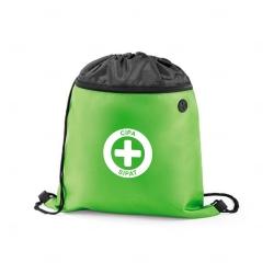 Sacochila com Bolso Frontal Personalizada - 35x40 cm Verde