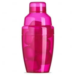 Coqueteleira Plástica C/ Gelo Ecológico Personalizada - 230ml Rosa