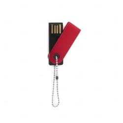 Mini Pen Drive Giratório Colorido Personalizado - 4GB Vermelho
