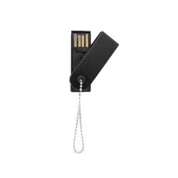 Mini Pen Drive Giratório Colorido Personalizado - 4GB Preto