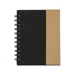 Bloco de Anotações com Caneta Personalizado - 16,3 x 13,6 cm Preto