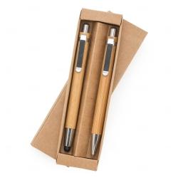 Kit Caneta e Lapiseira Bambu Personalizado