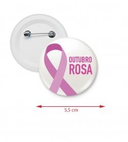 Botton Americano Personalizado 5,5 cm Rosa