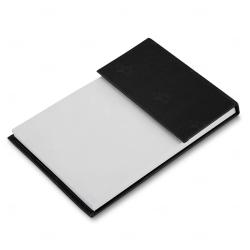 Bloco de Anotações com Autoadesivos Personalizado - 15,2 x 10,1cm Preto