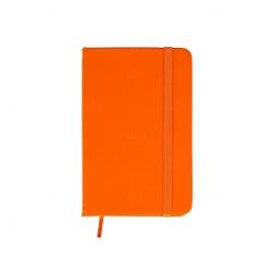 Caderneta Tipo Moleskine Emborrachada Personalizada - 14,1x8,8 cm Laranja