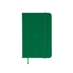 Caderneta Tipo Moleskine Emborrachada Personalizada - 14,1x8,8 cm Verde