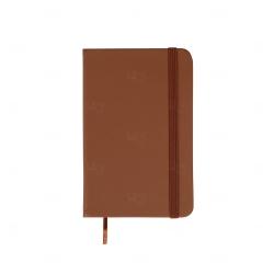 Caderneta Tipo Moleskine Emborrachada Personalizada - 14,1x8,8 cm Marrom