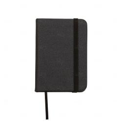 Mini Caderneta Tipo Moleskine Personalizada - 10,5 x 7,4 cm Preto