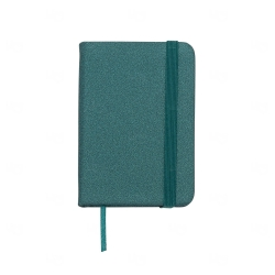 Mini Caderneta Tipo Moleskine Personalizada - 10,5 x 7,4 cm Verde