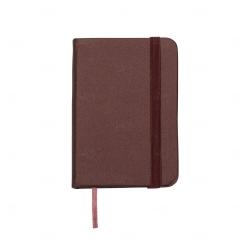 Mini Caderneta Tipo Moleskine Personalizada - 10,5 x 7,4 cm Vinho
