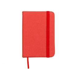 Mini Caderneta Tipo Moleskine Personalizada - 10,5 x 7,4 cm Vermelho