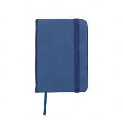 Mini Caderneta Tipo Moleskine Personalizada - 10,5 x 7,4 cm Azul Marinho