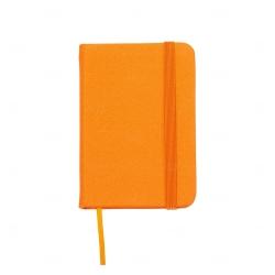 Mini Caderneta Tipo Moleskine Personalizada - 10,5 x 7,4 cm Laranja
